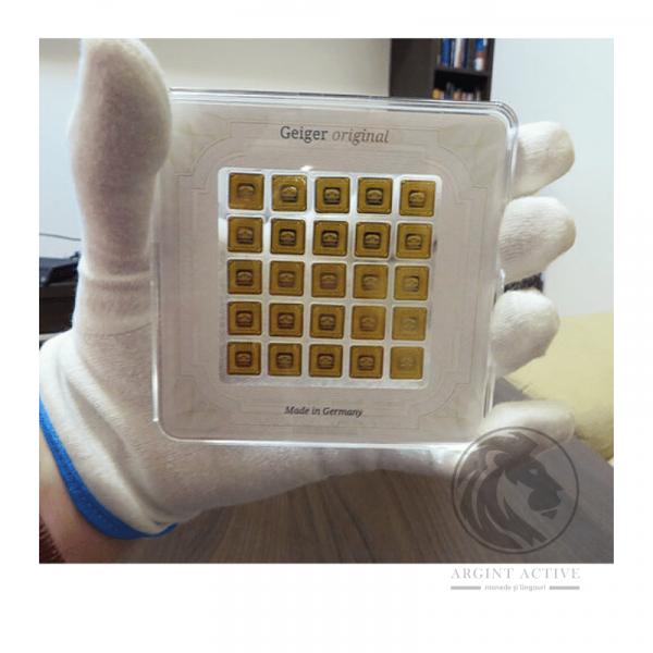 Lingouri-aur-pur-25-x-1-gram-Geiger-Multicard-capsula-lingouri-aur-monede-aur-pur-investitii-metale-pretioase-educatie-financiara-real