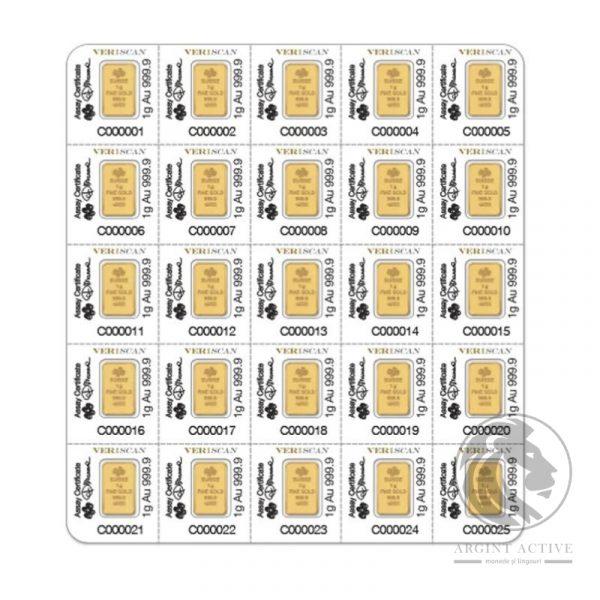 lingou aur 24k Pamp multigram 25 x 1 gram