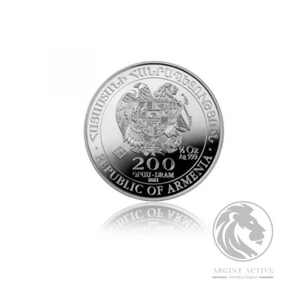 Moneda de argint Arca lui Noe 15,5 grame