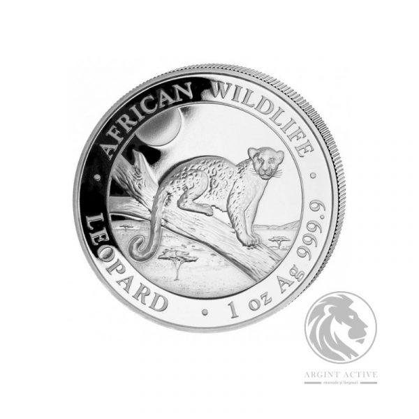 moneda argint leopard somalia