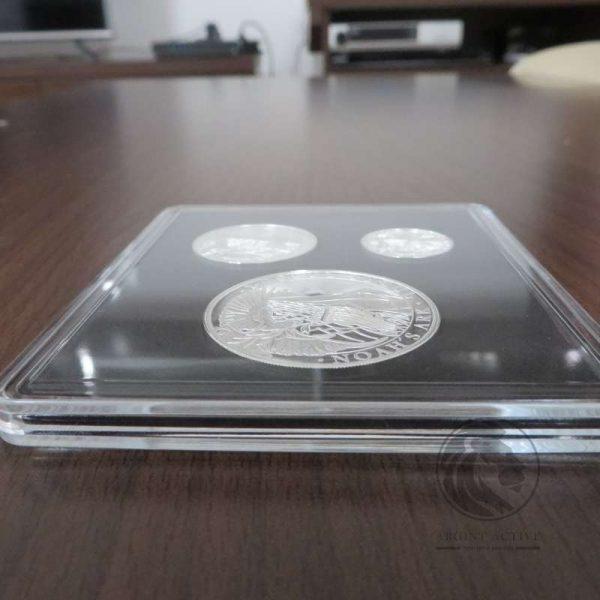 set 3 monede argint arca lui noe